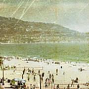 Redondo Beach La Poster by Kevin Bergen