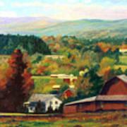 Reeds Farm Ithaca New York Poster by Ethel Vrana