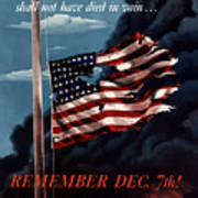 Remember December Seventh Poster by War Is Hell Store
