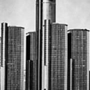 Renaissance Center - Black And White Poster by Alanna Pfeffer