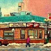 Restaurant Greenspot Deli Hotdogs Poster by Carole Spandau