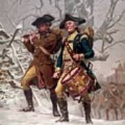 Revolutionary War Soldiers Marching Poster by War Is Hell Store