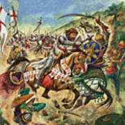Richard The Lionheart During The Crusades Poster by Peter Jackson