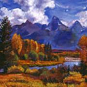 River Valley Poster by David Lloyd Glover