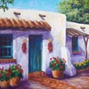 Riverbend Adobe Poster by Candy Mayer
