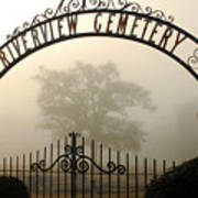 Riverview Cemetery II Poster by Wayne Archer