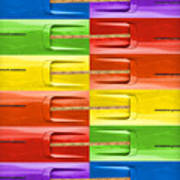 Road Runner Rainbow Poster by Gordon Dean II