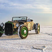 Roadster On The Salt Flats 2012 Poster by Holly Martin