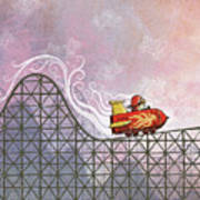 Rocket Me Rollercoaster Poster by Dennis Wunsch