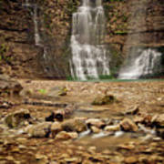 Rocks And Waterfalls Poster by Iris Greenwell
