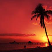 Romantic Sunset Poster by Melanie Viola