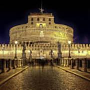 Rome Castel Sant Angelo Poster by Joana Kruse