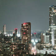 Roppongi From Tokyo Tower Poster by Spiraldelight