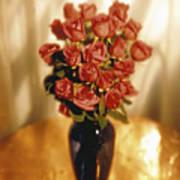 Roses Poster by Tony Cordoza