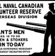 Royal Naval Canadian Volunteer Reserve Poster by War Is Hell Store