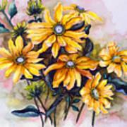 Rudbeckia  Prairie Sun Poster by Karin  Dawn Kelshall- Best