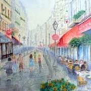 Rue Montorgueil Paris Right Bank Poster by Dan Bozich