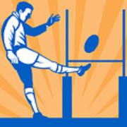 Rugby Goal Kick Poster by Aloysius Patrimonio