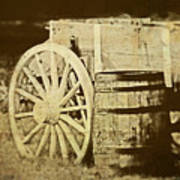 Rustic Wagon And Barrel Poster by Tom Mc Nemar