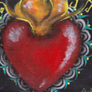 Sagrado Corazon 1 Poster by  Abril Andrade Griffith