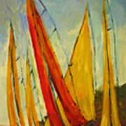 Sailboat Studies 2 Poster by Julie Lueders