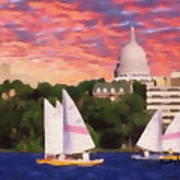 Sailing In Madison Poster by Anthony Caruso