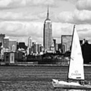 Sailing The New York Harbor Poster by John Rizzuto