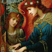 Saint Cecilia Poster by John Melhuish Strukdwic