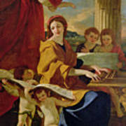 Saint Cecilia Poster by Nicolas Poussin