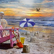 Sam's  Sandcastles Poster by Betsy Knapp