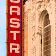 San Francisco Castro Theater Poster by Wingsdomain Art and Photography