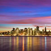 San Francisco Sunset Poster by Photo by Alex Zyuzikov