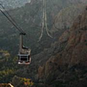 Sandia Peak Cable Car Poster by Joe Kozlowski