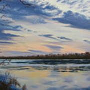 Scenic Overlook - Delaware River Poster by Lea Novak
