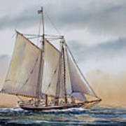 Schooner Stephen Taber Poster by James Williamson