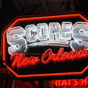 Scores Neon  Poster by Armand Hebert
