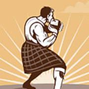 Scottish Games Poster by Aloysius Patrimonio