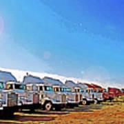 Semi Truckscape 2 Poster by Steve Ohlsen