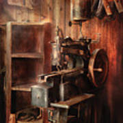 Sewing - Sewing Machine For Saddle Making Poster by Mike Savad