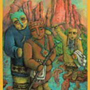 Shamans Of Sedona  Poster by Janice Hightower