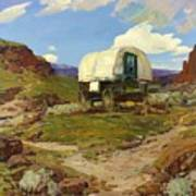 Sheep Wagon Poster by Pg Reproductions