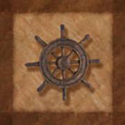 Ship's Wheel Poster by Tom Mc Nemar