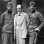 Sigmund Freud 1856-1939, With His Sons Poster by Everett