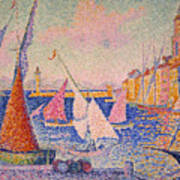 Signac: St. Tropez Harbor Poster by Granger