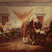 Signing The Declaration Of Independence Poster by John Trumbull