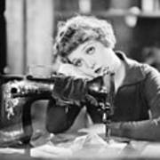 Silent Film Still: Sewing Poster by Granger