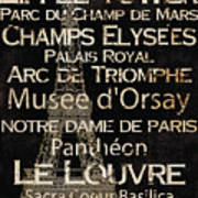 Simple Speak Paris Poster by Grace Pullen