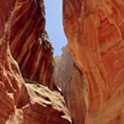 Siq Path Slot Canyon Petra Poster by Paul Cowan