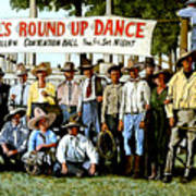 Skeeter Bill's Round Up Poster by Tom Roderick
