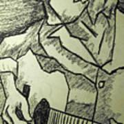 Sketch - Guitar Man Poster by Kamil Swiatek